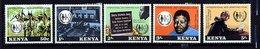 Kenia ** N°  129 à 133 - Année De La Lutte Contre L'Apartheid - Kenya (1963-...)
