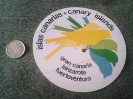 SPAIN. PEGATINA ADHESIVO RARE OLD STICKER ISLAS CANARIAS CANARY ISLANDS LANZAROTE FUERTEVENTURA GRAN CANARIA ESPAGNE VER - Pegatinas