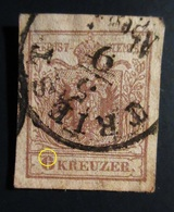 1854 Autriche Yt 4B , Mi 4Y . Coat Of Arms Oblitéré - 1850-1918 Empire