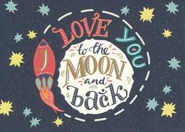 AK Düsseldorf 2018 Peek & Cloppenburg Love You To The Moon And Back Rakete Weihnachten - Werbepostkarten