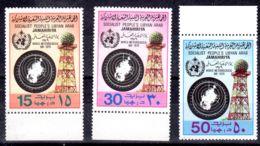 23.3.1979; Welttag Der Meteorologie, Mi-Nr. 724 - 726; Neu **, Lot 50722 - Libyen