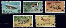Kenia  Ob N°  86 à 90 - Faune En Danger - Tortue, Singes,  Crocodiles Etc... - Kenya (1963-...)