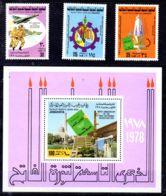 1.9.1978; 9e Anniversaire De La Révolution Sept. YT 700 - 702 + BF26, Neuf **, Lot 50787 - Libye