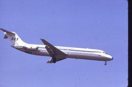 SLIDE / AVION / AIRCRAFT   KODAK  ORIGINAL  SAS  DC 9  LN-RLJ - Diapositives