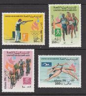 1996 United Arab Emirates Olympics Atlanta Shooting, Cycling, Running, Swimming Set Of 4 MNH - Emirati Arabi Uniti