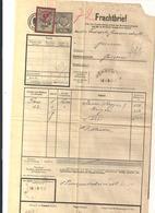 Frachtbrief - 9.1.1922 Von Hörsching Nach Goisern Mit Eingedruckten Stempel 1K20h Und Aufgekl. Stempelmarke - Autres Collections