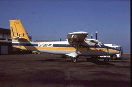SLIDE / AVION / AIRCRAFT   KODAK  ORIGINAL  BRYMON  TWIN OTTER  G-BGMD - Diapositives