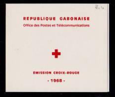 GABON 1968 Carnet Croix Rouge N° YT Bloc 10**    50-100fr - Gabon (1960-...)