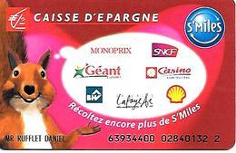 CARTE-+-MAGNETIQUE-FIDELITE -12/07-CAISSE D EPARGNE--TBE-rare - France