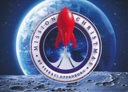 AK Düsseldorf 2018 Peek & Cloppenburg Mond Rakete Mission Christmas - Werbepostkarten