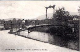 DE-BW: BADEN-BADEN: Partie An Der Oos Mit Gönner-Brücke - Baden-Baden