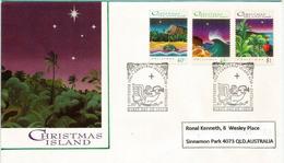 Noël à L'île Christmas (Océan Indien)  Plage Et Tortue,crabes Et Frégate. FDC 1993 - Christmas Island