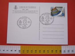 A.03 ITALIA ANNULLO - 2002 VALDENGO BIELLA CENTENARIO NASCITA GIUSEPPE PELLA POLITICO REPUBBLICA - Celebrità