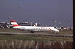 SLIDE / AVION / AIRCRAFT   KODAK  ORIGINAL  AUSTRIAN  DC 9  OE-LDI - Diapositives