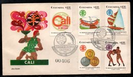 COLOMBIA- KOLUMBIEN - 1971.FDC/SPD. PANAMERICAN GAMES CALI'71. BOXING, YATCH, STADIUM,MEDALS AND EMBLEM - Colombia