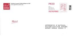 Enveloppe-réponse Apprentis D'Auteuil - Entiers Postaux