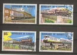 Djibouti 1979 - Locomotives - Série Complète De 4° - 491/4 - Chemin De Fer De Djibouti à Addis-Abeba - Djibouti (1977-...)