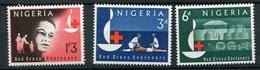 Nigéria ** N° 140 à 145  - Croix Rouge - Nigeria (1961-...)