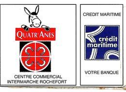 CARTE-+-FIDELITE -2000-17-ROCHEFORT-ZONE COMMERCIALE Des  QUATR ANES-TBE-RARE - France