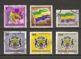 Gabon 1968/72 - Timbres De Service - Petit Lot De 6° - Stamps