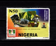 Nigeria,2010- 50th Indipendence Anniversary, Celebrating Greatness. MintNH.Back With Some Crinkles - Nigeria (1961-...)