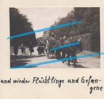 WW2 EXODE Réfugiés Fuyant Les Allemands à PITHIVIERS Loiret 1940 ! - 1939-45