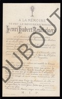 Doodsprentje Pater/Frère Henri Hubert Beuckelaers °1868 Antwerpen/Anvers †1894 Antwerpen Malines/Mechelen (F99) - Décès