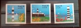 BRESIL, Phare, Phares, Faro, Lighthouse. 3 Valeurs Emises En 1995. ** MNH - Phares