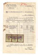 Rechnung Bad Ischl 14.9.1934 Mit Erlagschein - Und Aufgeklebten Stempelmarken - Autriche