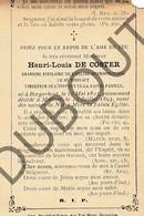 Doodsprentje Pater/Frère Henri-Louis De Coster °1825 Borgerhout †1893 Mechelen/Malines (F100) - Décès