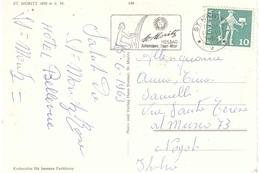 ST. MORITZ CARTOLINA X ITALIA CON ANNULLO TARGHETTA - Svizzera