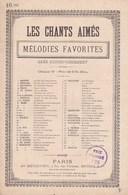 Les Chants Aimés Mélodies Favorites  Cimetière De Campagne Poésie Gabriel Vicaire  Musique Reynaldo Hahn  Heugel & Cie - Partitions Musicales Anciennes