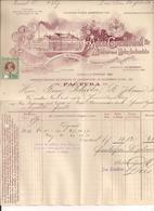 Rechnung Linz 24.2.1906 Mit Eingedruckten Kais.Kön.Stempel - Autriche