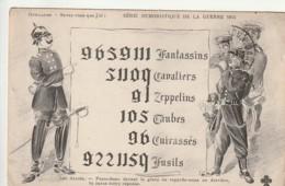 ** MILITARIA 14 / 18 Humour Caricature - Fantassins Zeppelins .. MERDE Pour Le 201 De Prusse écrite - Oorlog 1914-18
