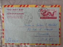 VIETNAM AEROGRAMME AVEC TIMBRE - TAMPON DALAT - Vietnam