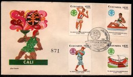COLOMBIA- KOLUMBIEN - 1971.FDC/SPD. PANAMERICAN GAMES CALI'71. ATHLETISM,STADIUM,ROWING AND BASEBALL - Colombia