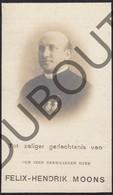 Doodsprentje Pater/Frère Felix-Hendrik Moons °1869 Diest Wezembeek / Perk / Winksele Delle †1918 Fort Van Wilrijk (F106) - Décès