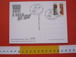 A.03 ITALIA ANNULLO - 2003 CRESCENTINO VERCELLI 100 ANNI UN SECOLO DI AVIAZIONE AIRLINES AIR AEREO ANTICO MODERNO CACCIA - Aerei