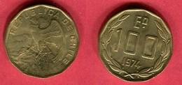 100 Escudos 1974 (KM 202) TTB 2 - Chili