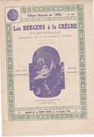 """Editions Musicales Du """"Noël"""" N°66 Les Bergers à La Crèche Pastorale Par M. Le Chanoine H. Poivet  Tableau  De Grecolini - Partitions Musicales Anciennes"""