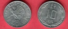 10 Escudos 1974 (KM 200) TTB 2 - Chile