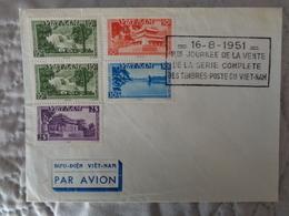 VIETNAM 1951, 1er JOURNEE DE LA VENTE DE LA SERIE COMPLETE DES TIMBRES POSTE DU VIETNAM - Vietnam