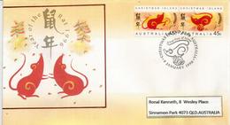 Année Du Rat 1996 , Série De L'île Christmas (Océan Indien)   FDC - Nouvel An Chinois