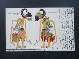 AK 1912 Indonesien Radhen Leksmana Praboe Rama. Künstlerkarte. Verwendet In Den Niederlande In Die Schweiz Gesendet!! - Indonésie