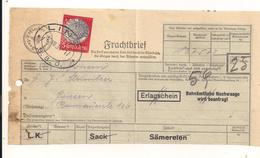 Teil Eines Frachtbriefes Der Graz-Köflacher Eisenbahn - 10.7.1934 Nach Goisern Mit Eingedruckten Stempel 5 Groschen - Autres Collections