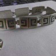 Bracelet En Argent Massif Du Mexique Poids:27.1 Grammes Homme Ou Femme - Bracelets