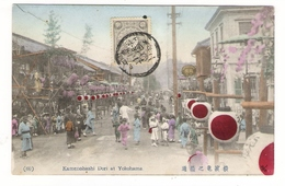 JAPON  /  KAMENOHASHI  DORI  AT  YOKOHAMA  ( Jour De Fête ) /  BEAU  TIMBRE  +  CACHET - Yokohama