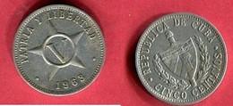 5 CENTAVOS   1963 (KM 34)  TB 1 - Cuba