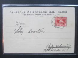Ägypten 1927 Postkarte Deutsche Orientbank AG Kairo Ex Banque Hassan Said Pacha. Dokumente - Egypt