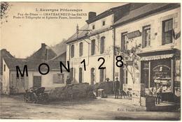 CHATEAUNEUF LES BAINS (63) POSTE ET TELEGRAPHE ET EPICERIE FAURE BURALISTE - France
